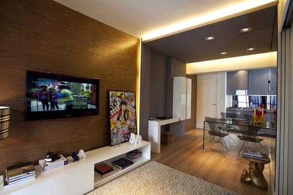 Small 45 Square-Meter Apartment Design Optimized by Maurício Karam