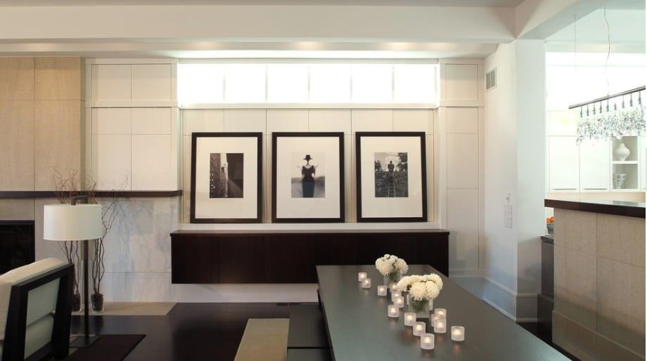 modern black and white room