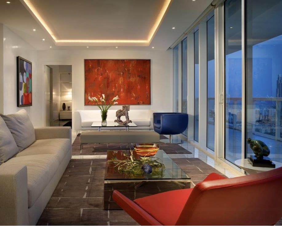 modern sitting room big window