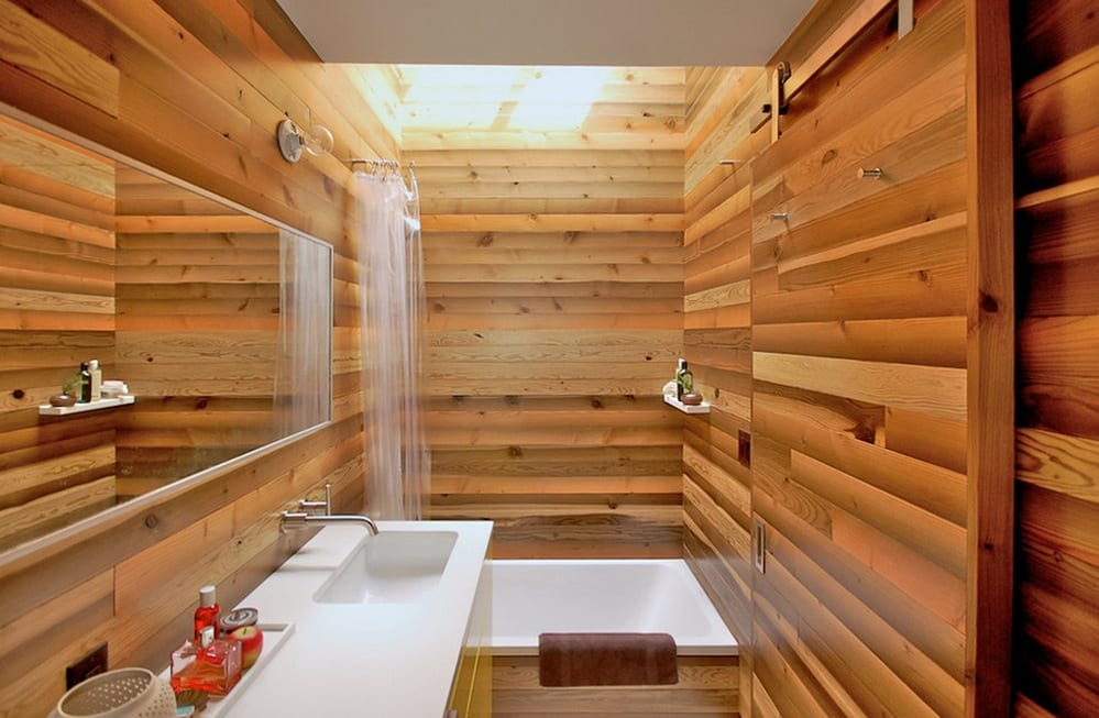 natural home elements wood bathroom