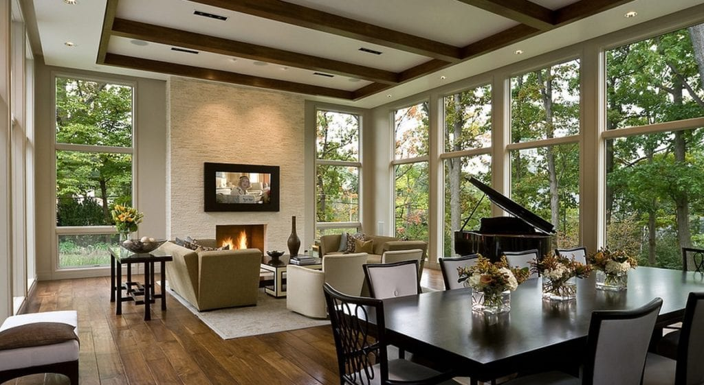 natural light living room view