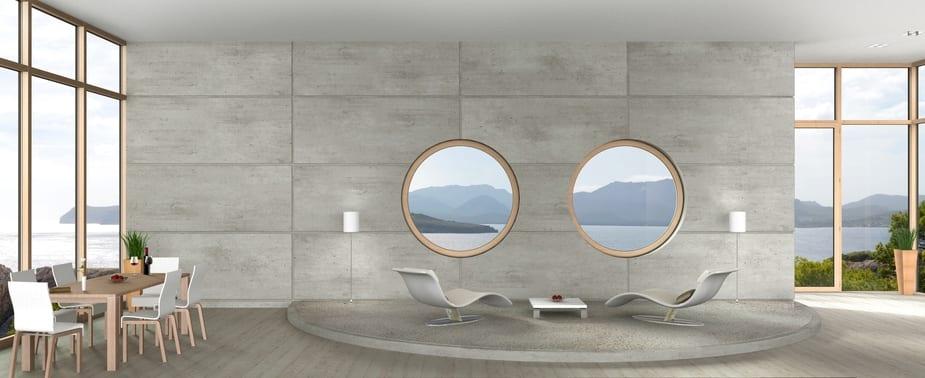 Porthole windows focal point.