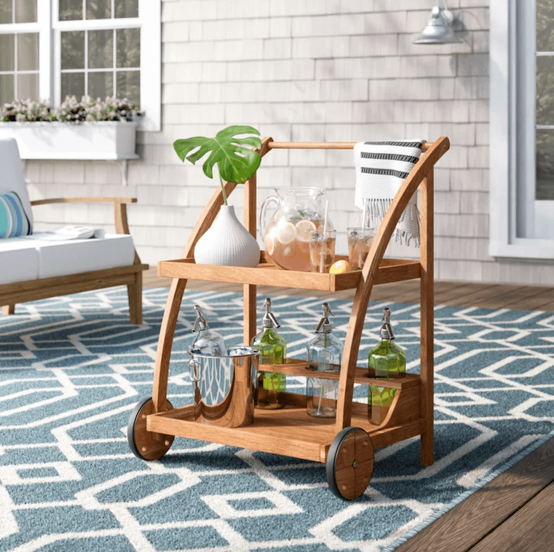 outdoor bar - wayfair bar cart