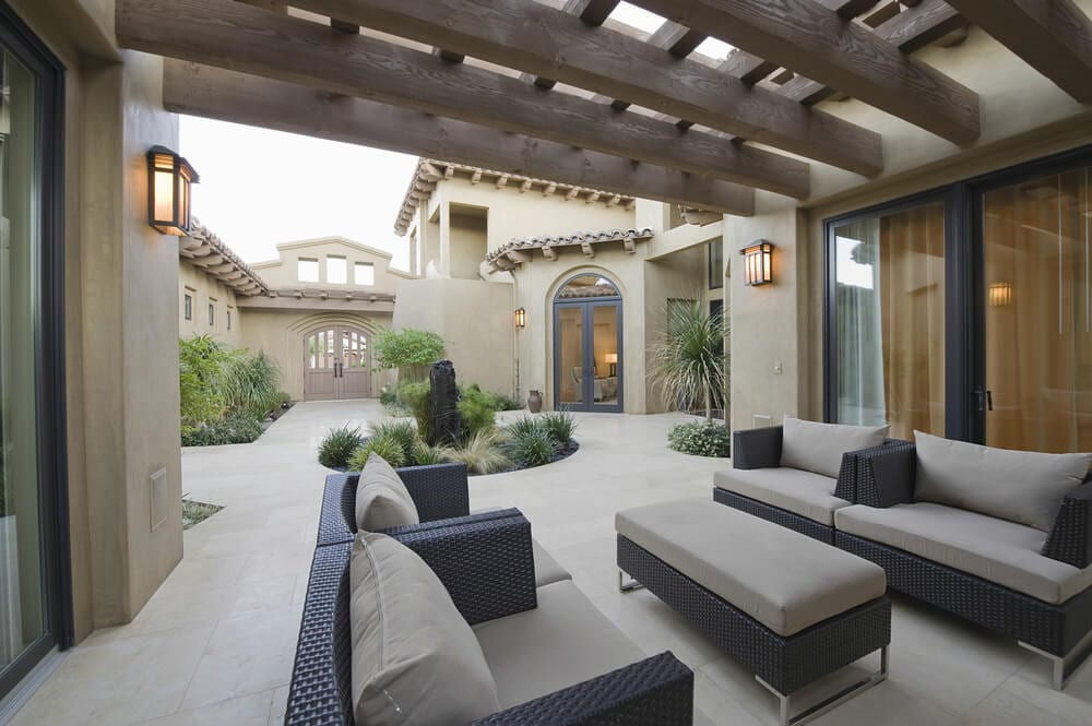 outdoor ceiling beams