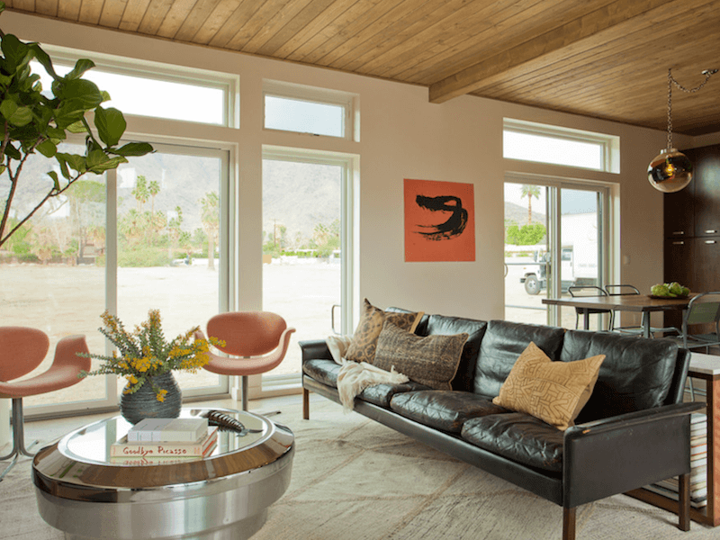 palm springs - muted living room