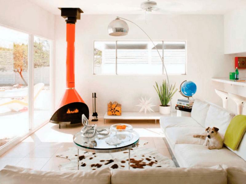 palm springs - retro fireplace