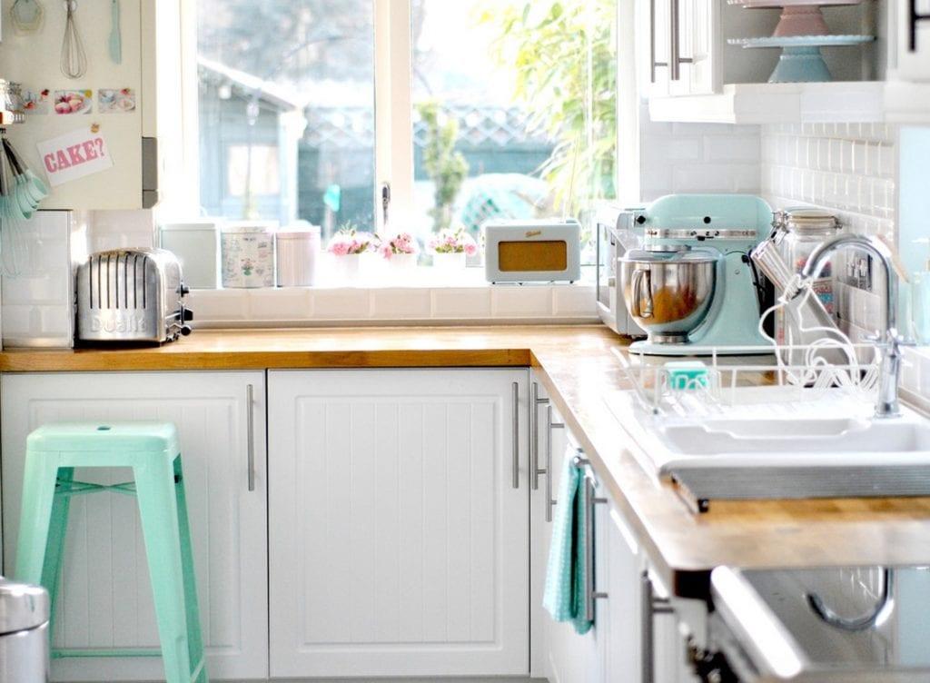 pastel interiors kitchen appliances