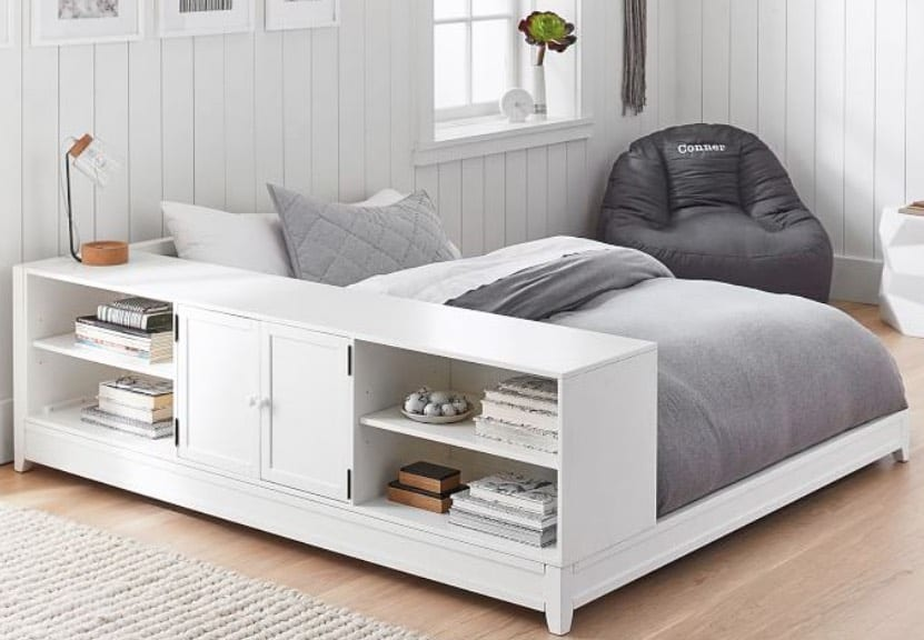 best storage beds with shelving