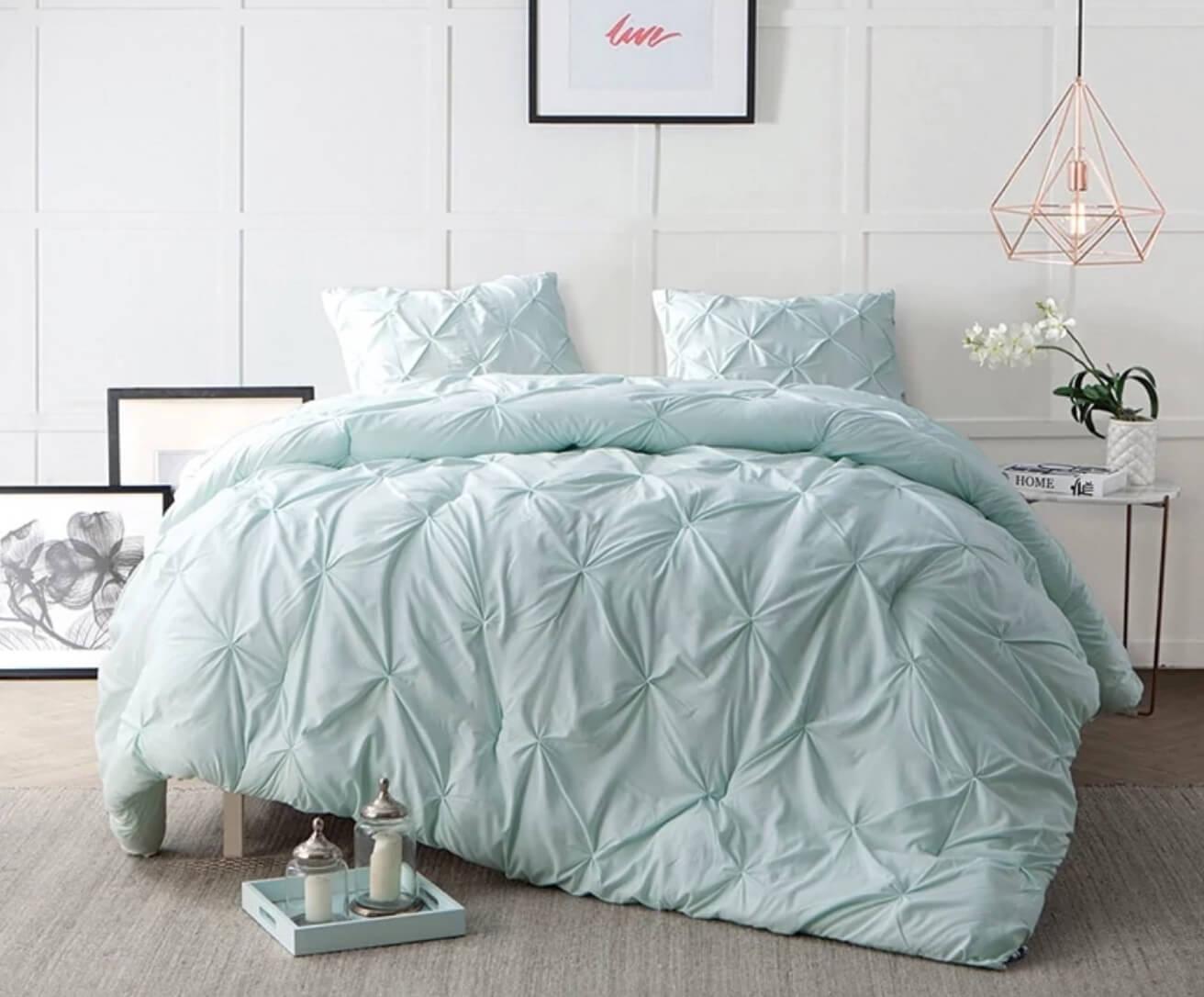 mint dorm bedding