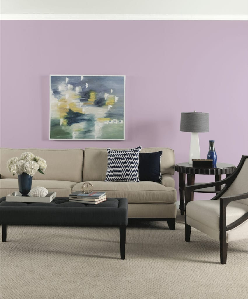 decorating a lilac living room