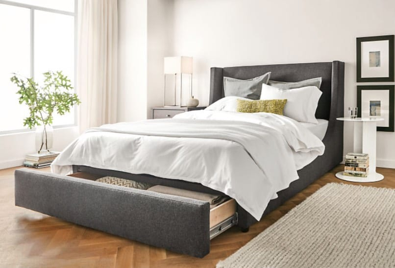 upholstered storage beds