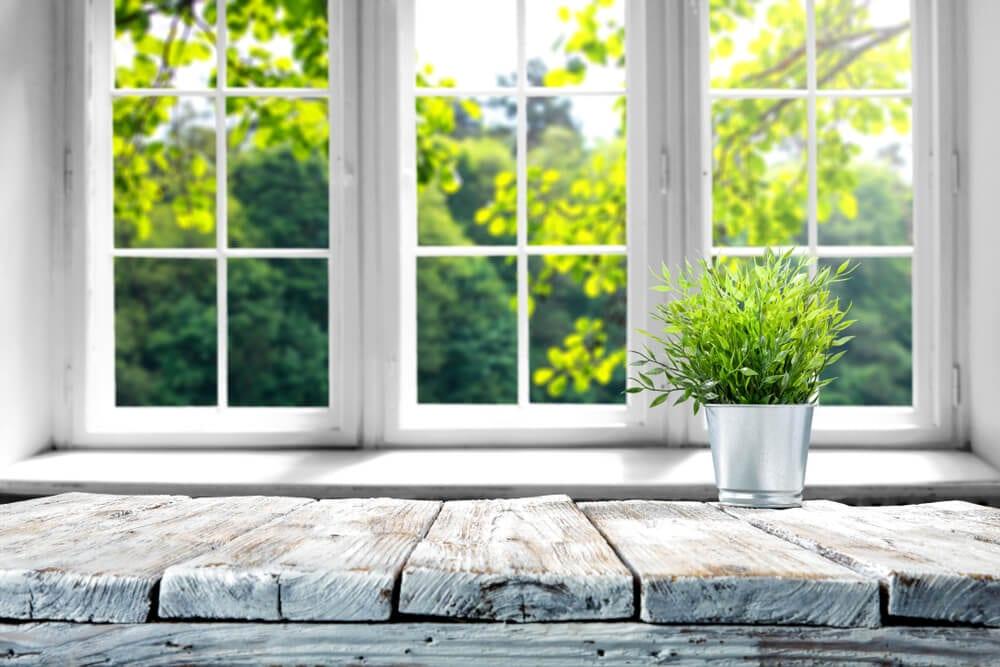 Cooler Home in Summer Window Shot