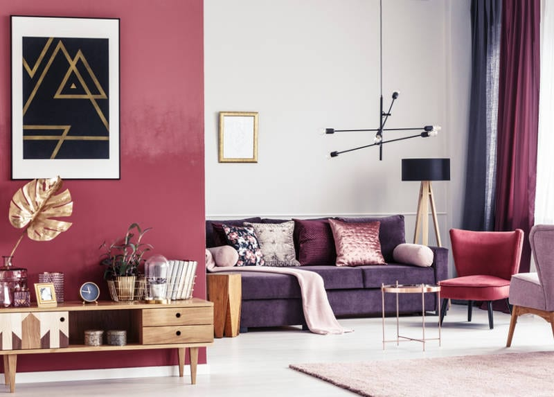 Not Your Shrinking Violet Here Are 10 Ideas For Decorating With Purple For A Modern Sexy Space