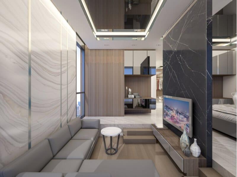 Sunken room living room