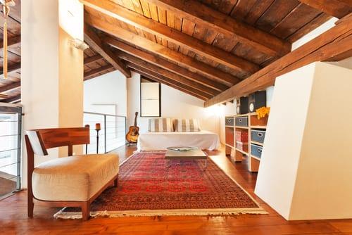 Bedroom in attic