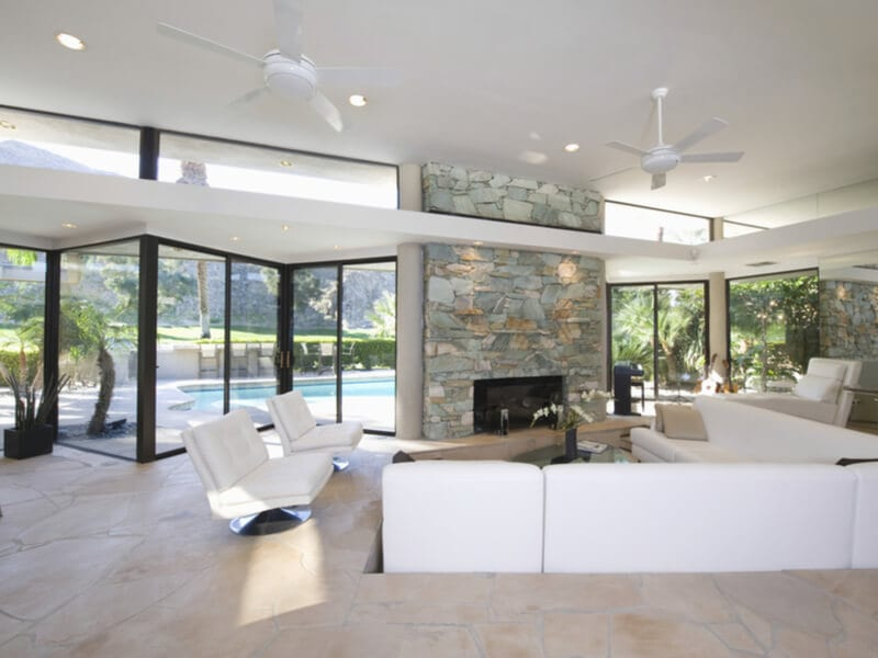 Living room with sunken area