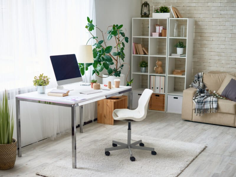 Living room and home office