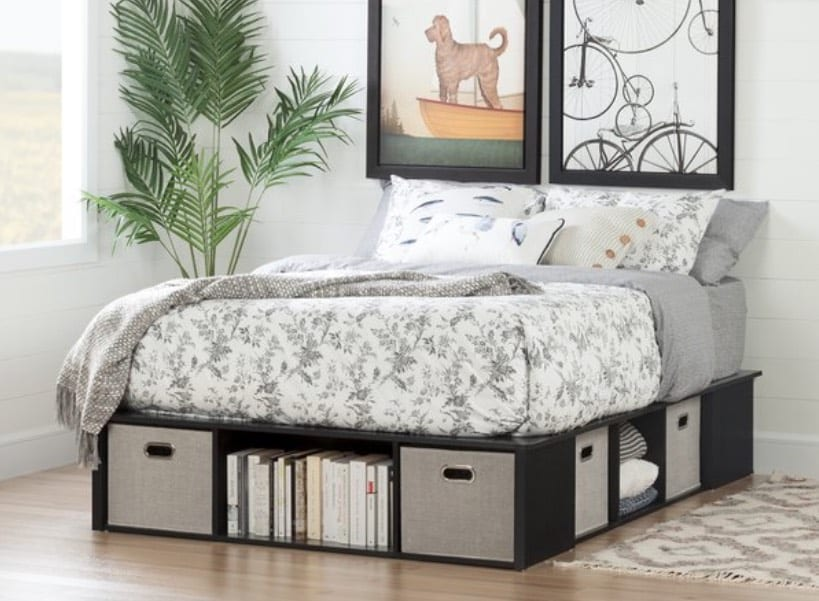 storage beds with cubbies