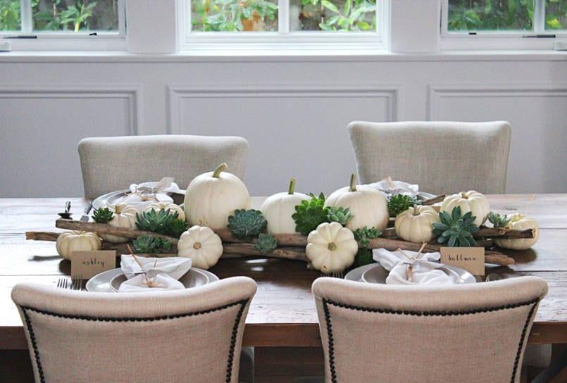 decorating with white pumpkins - freshome.com