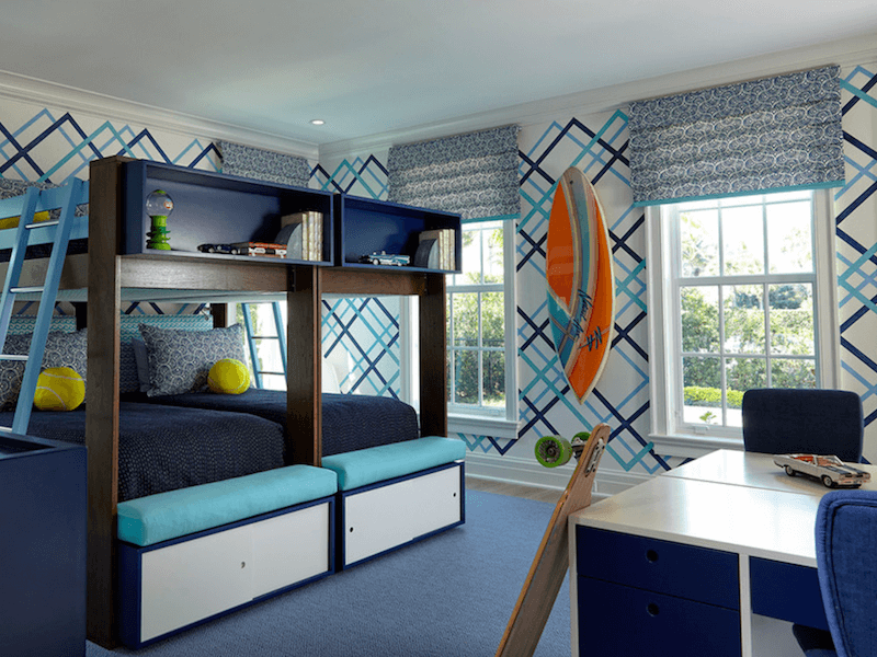 surfboards in home decor - kids rom
