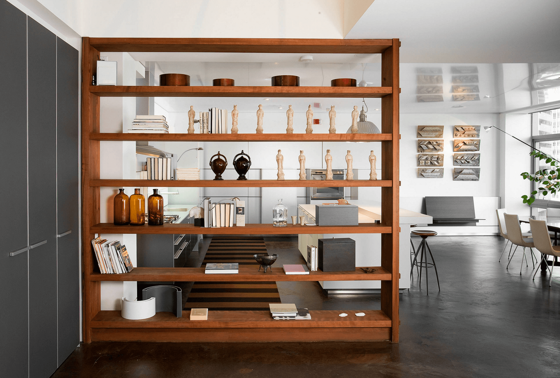 Clever Open Shelving Ideas To Divide And Conquer Your Space