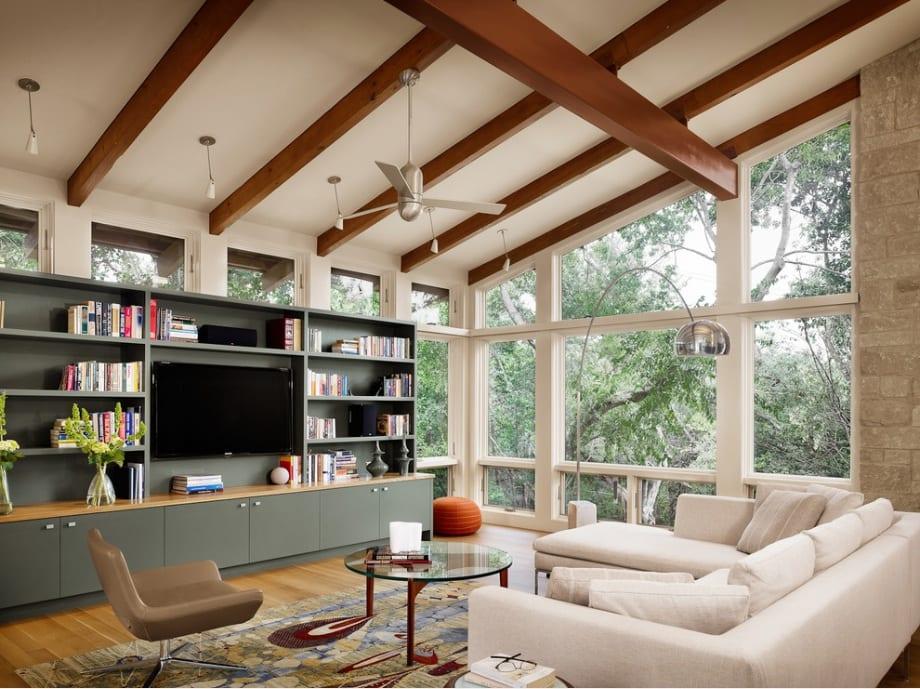 wood ceiling beams