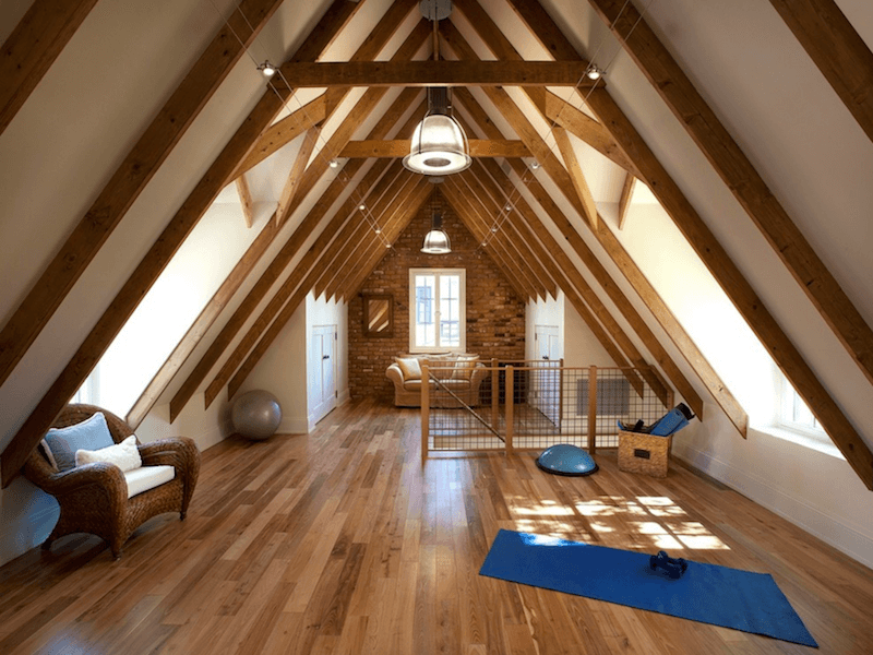 yoga room - attic