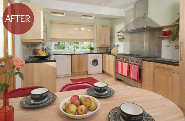 Appealing kitchen after home staging by Jill Brandenburg via House Doctor Programme