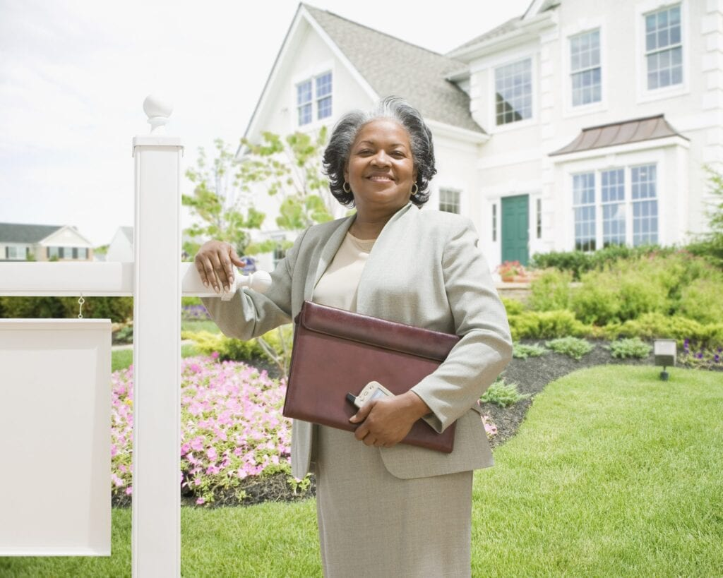 African american female real estate agent