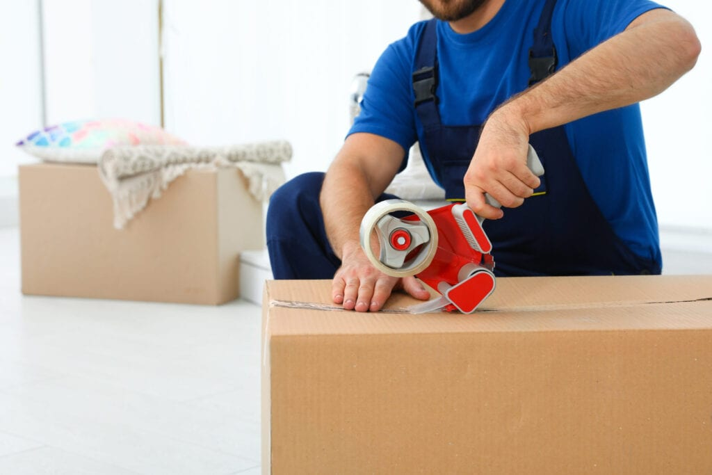 Man packing up professional