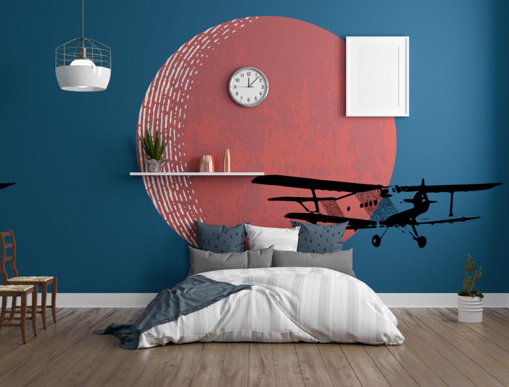3D render of bedroom interior
