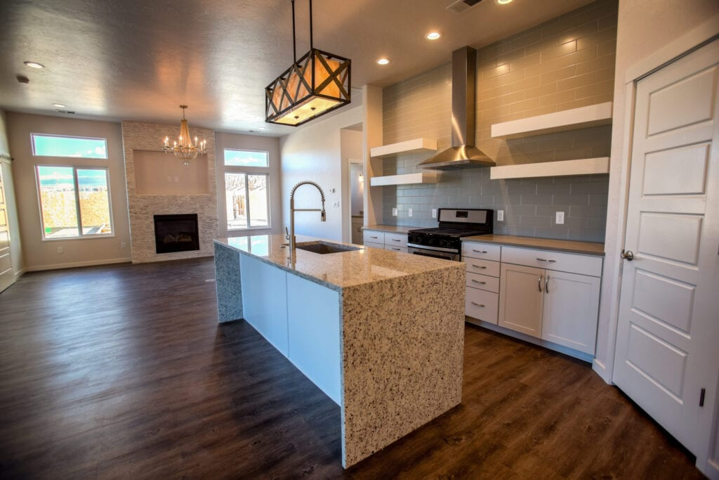 Modern kitchen in a brand new house