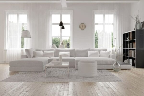 Large white sofa you can buy for cheap
