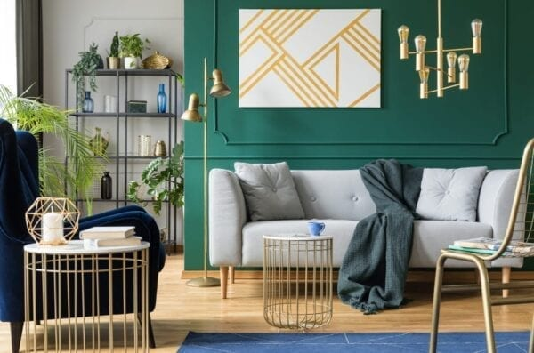 Try putting up a bold accent wall during quarantine!