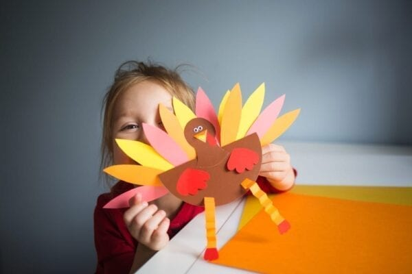Turkey-themed crafts with the kiddos
