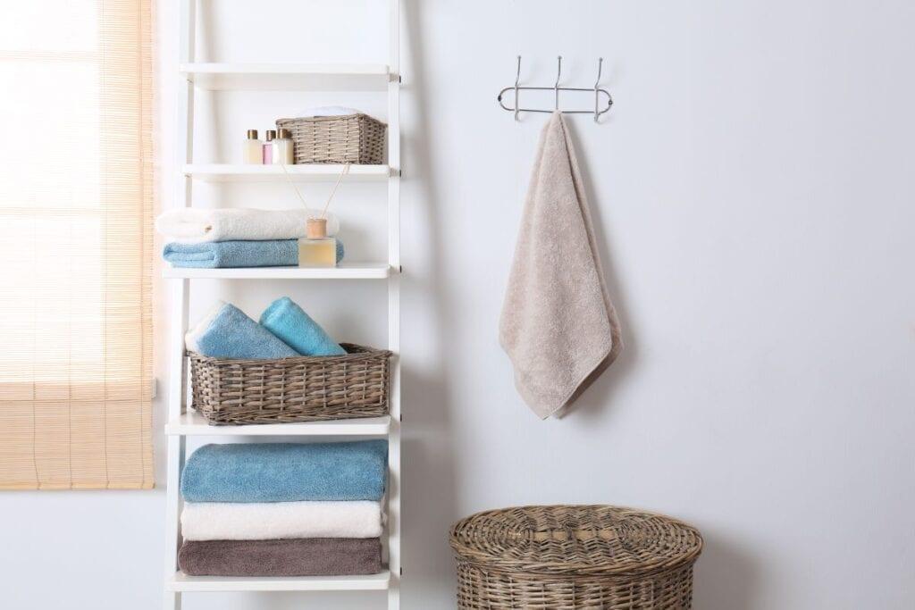 Bathroom with fresh towels