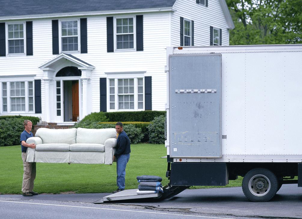 loading coach onto truck