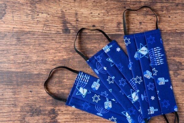Hanukkah-themed facemasks