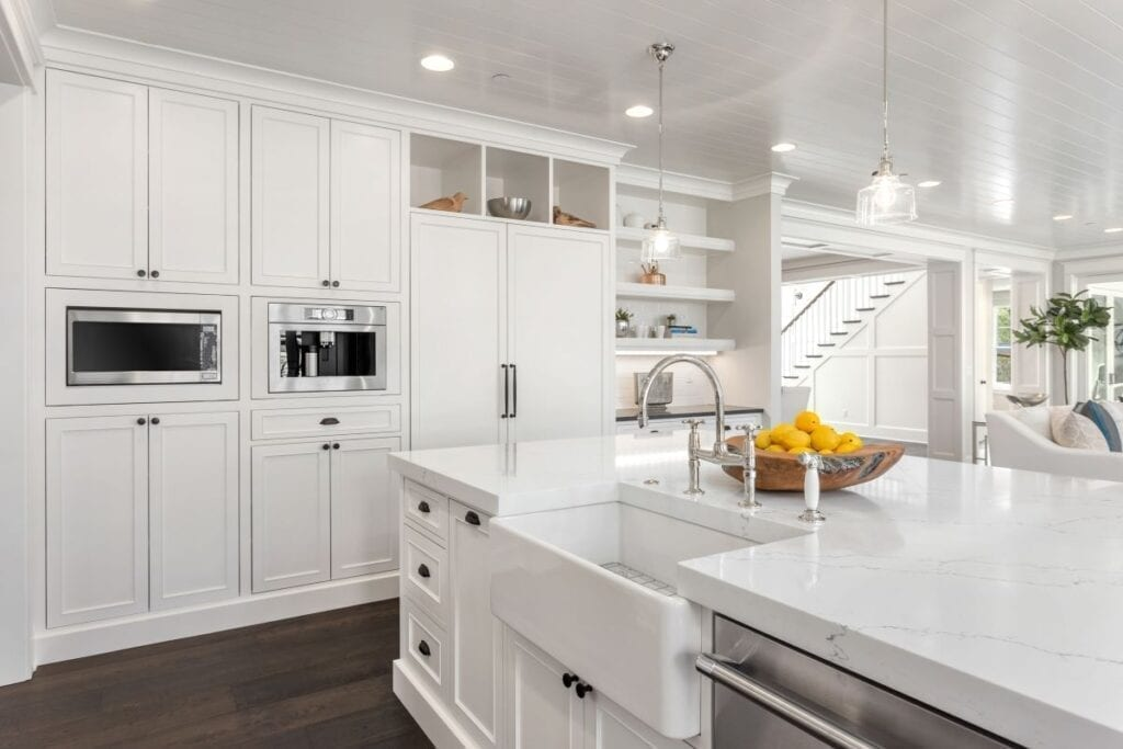 Luxury kitchen remodel with farmhouse sink