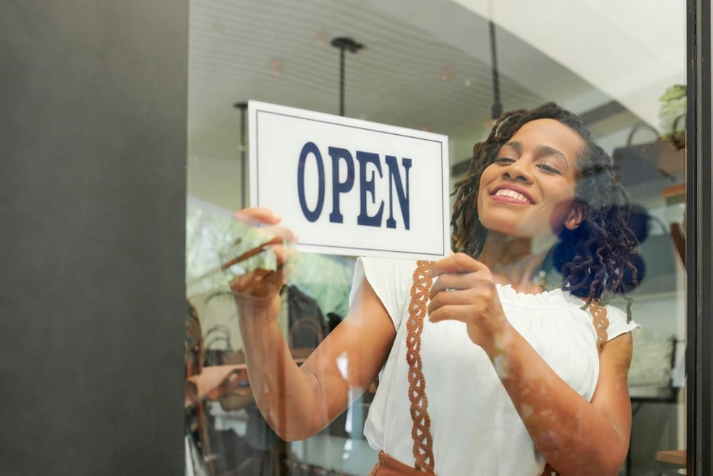 Black small-business owner opens her shop