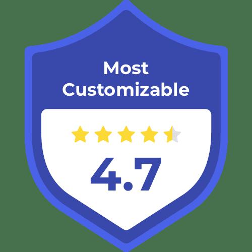 Most customizable storage unit badge, 4.7 stars