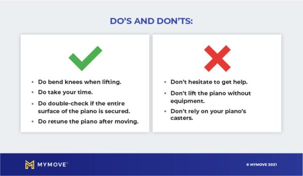 Do's and Don'ts of how to move a piano